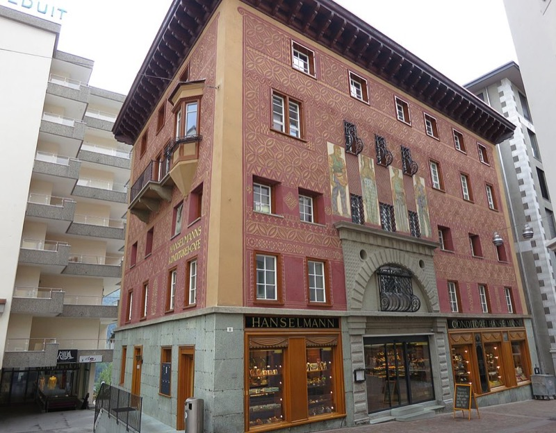 Svájc, St. Moritz, Hanselmann Kávéház - OTP Travel Utazási Iroda