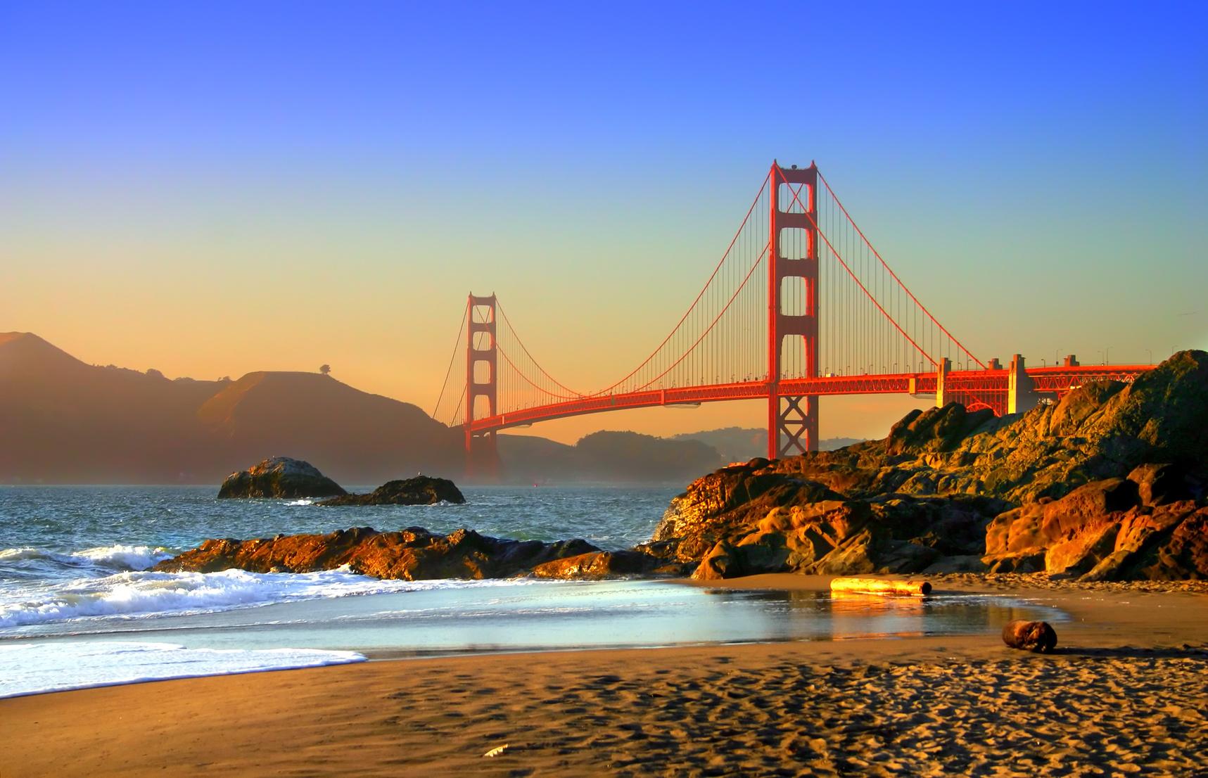 A legszebb strandok a világban - Baker Beach, San Francisco