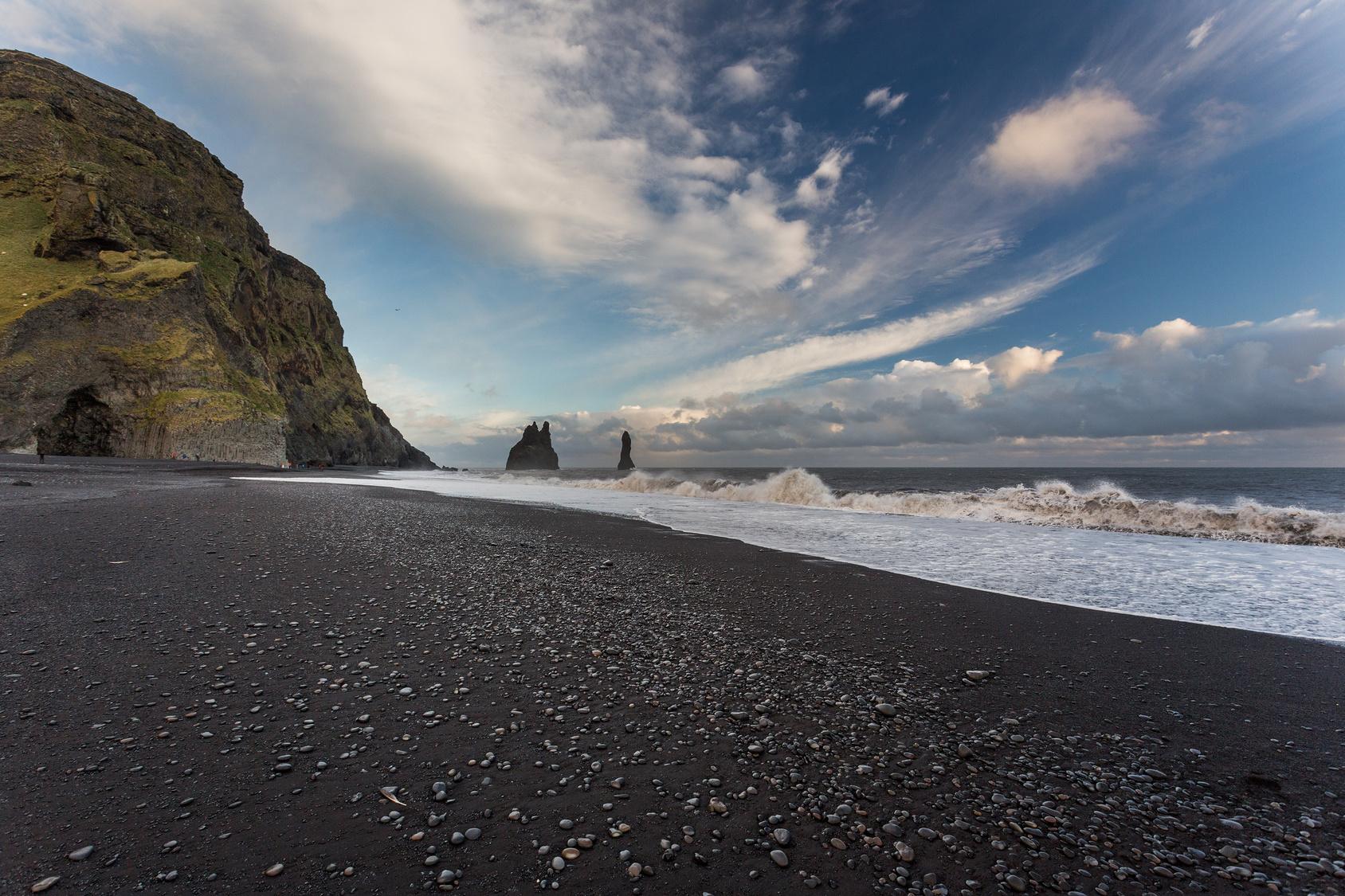 Black Sand Beach, Izland - A fekete homokos part